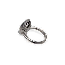 Shield Lady silver women's ring