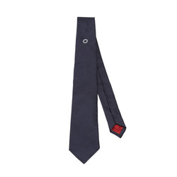 Blue tie with ball bearing embroidery