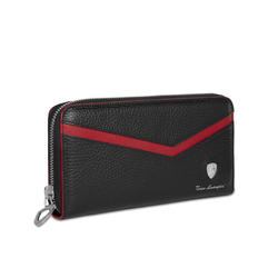 Taglio Saffiano Zip Around Leather Wallet