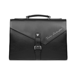 Carbon PATL2902 Leather Briefcase