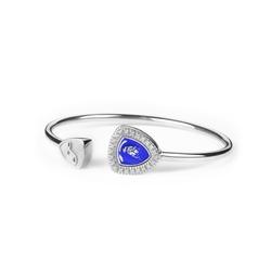 Shield Lady rigid silver bracelet