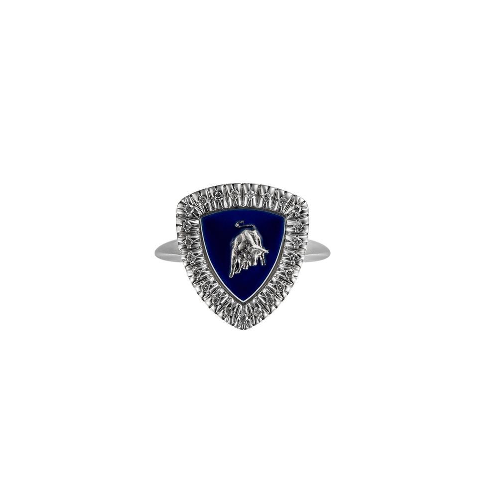 Shield Lady silver women's ring