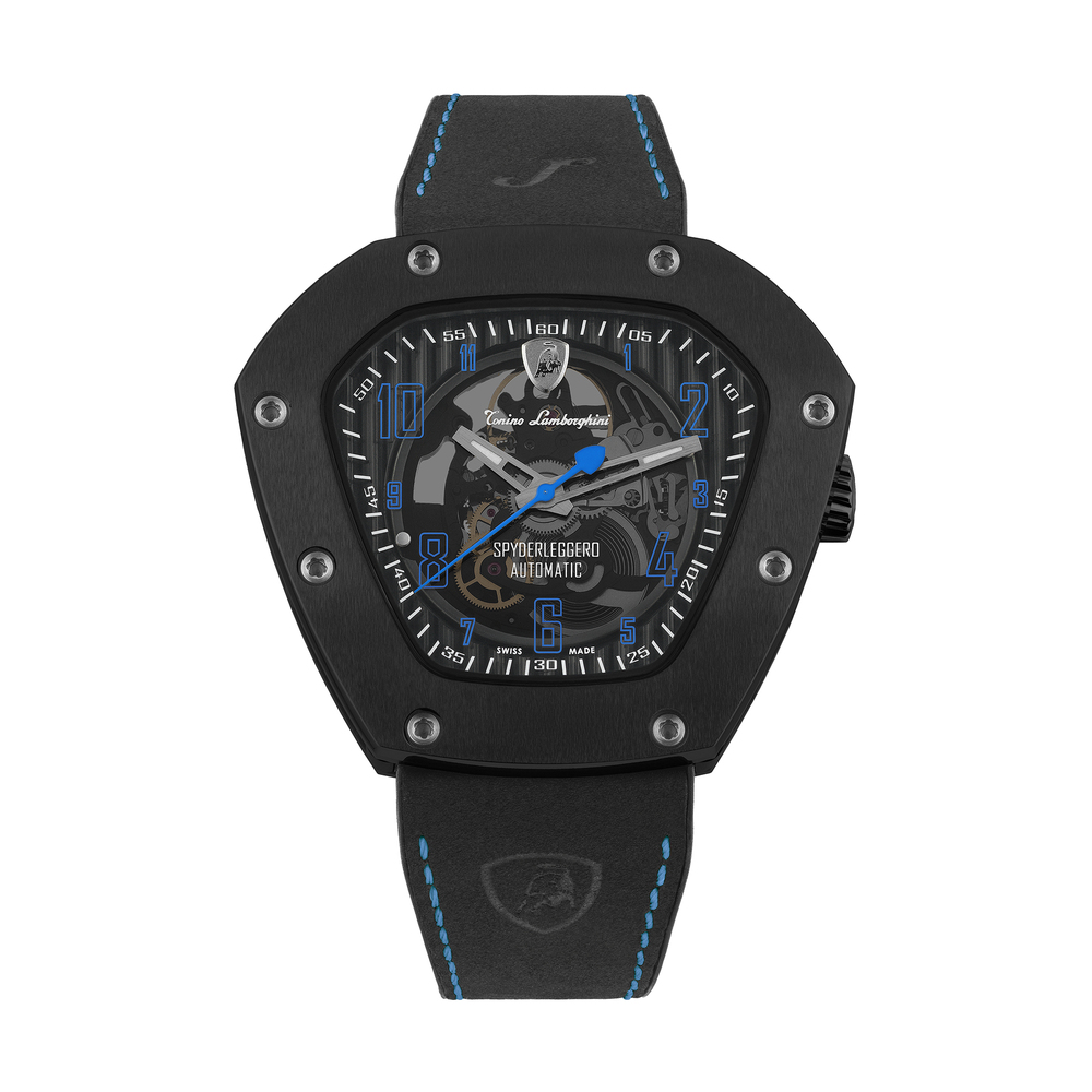 Tonino Lamborghini - Spyderleggero Skeleton automatic watch blue
