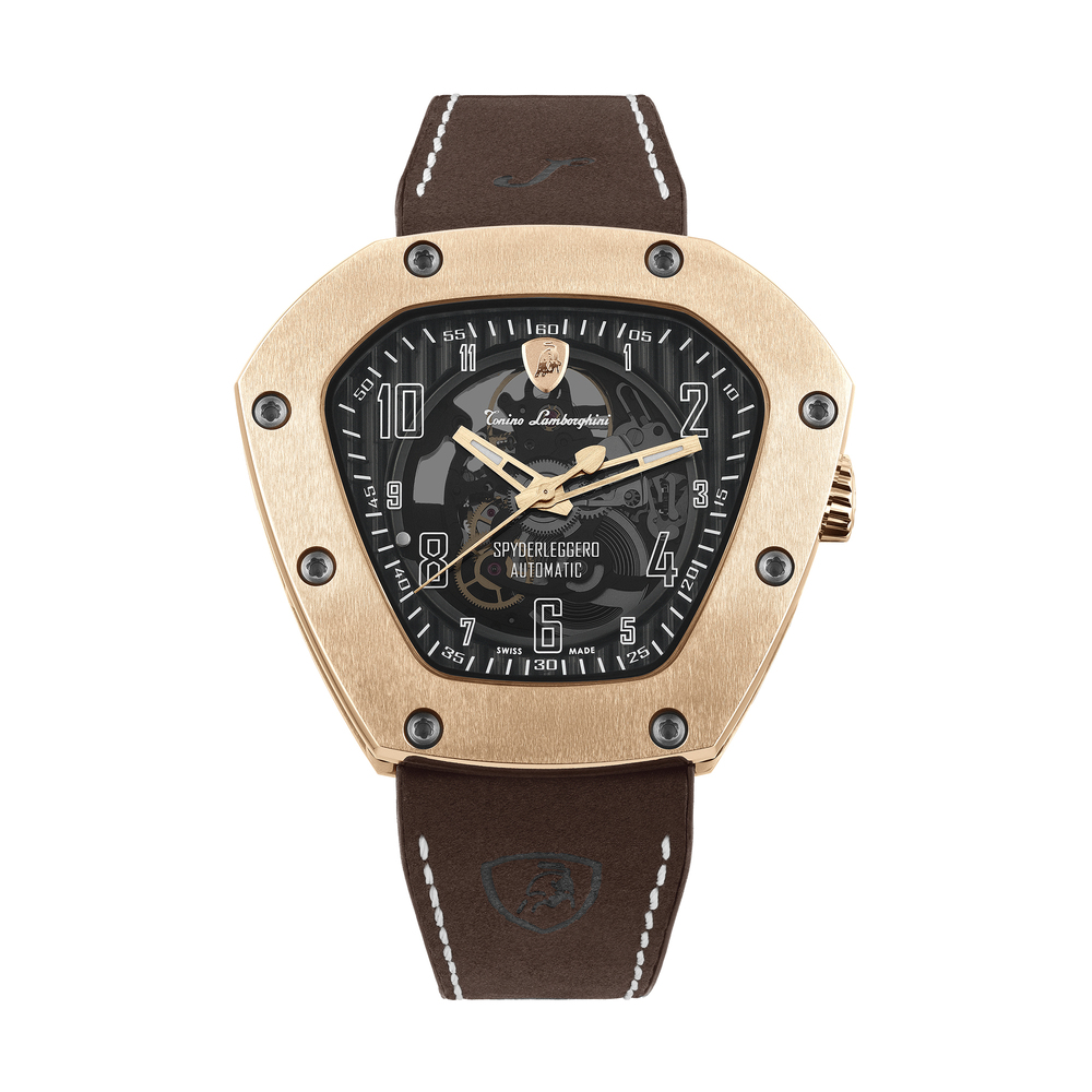 Tonino Lamborghini - Spyderleggero Skeleton automatic watch rose gold