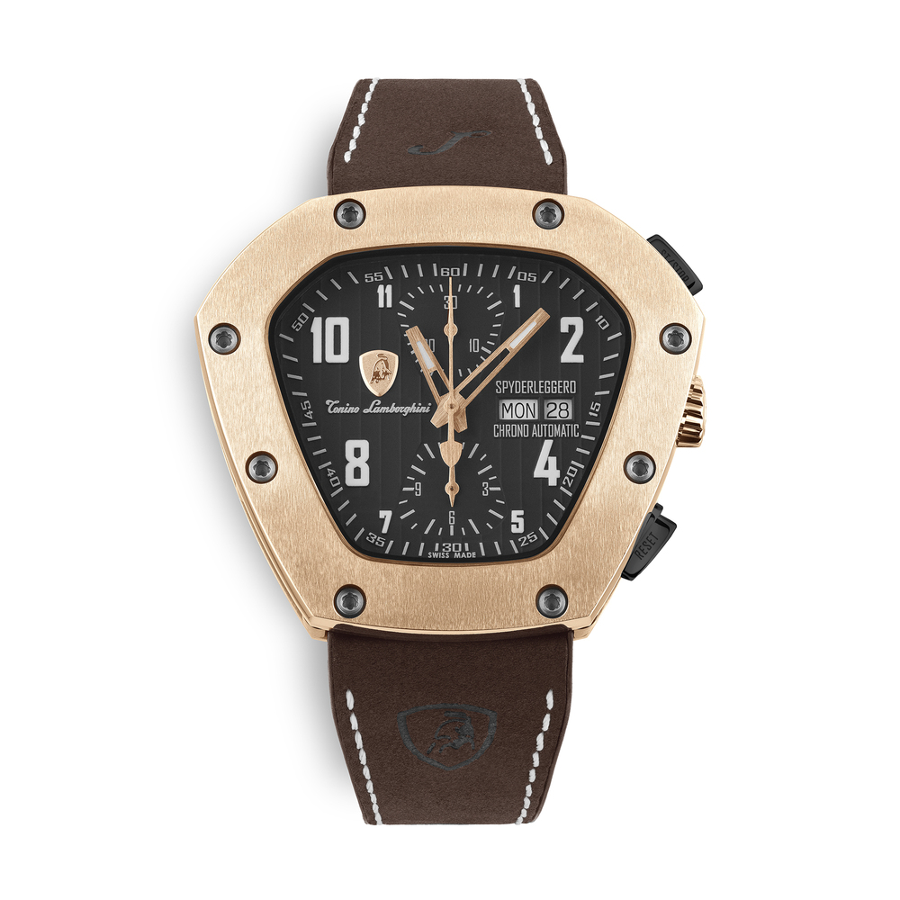 Tonino Lamborghini - Spyderleggero Chrono automatic watch rose gold