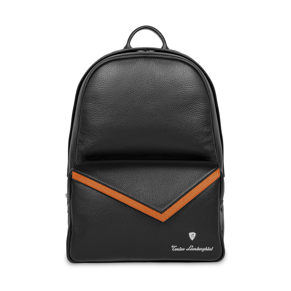 Tonino Lamborghini - Taglio  Saffiano Leather Backpack mandarin