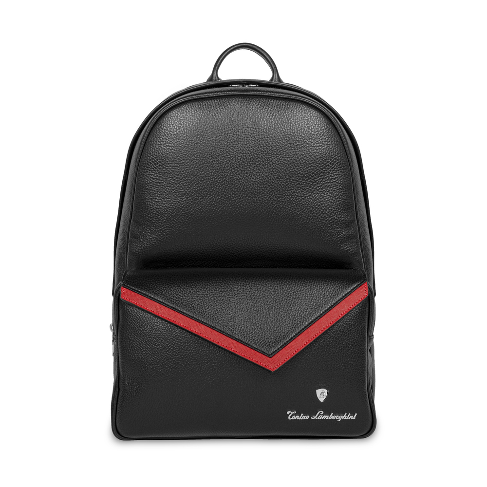 Tonino Lamborghini - Taglio  Saffiano Leather Backpack red