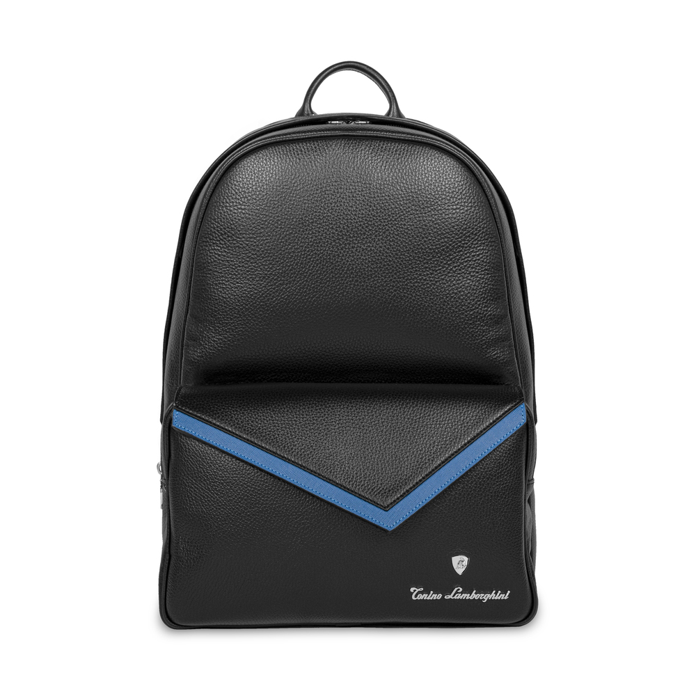 Tonino Lamborghini - Taglio  Saffiano Leather Backpack blue