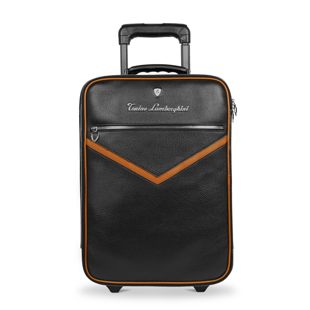 Tonino Lamborghini - Taglio  Saffiano Leather Trolley mandarin
