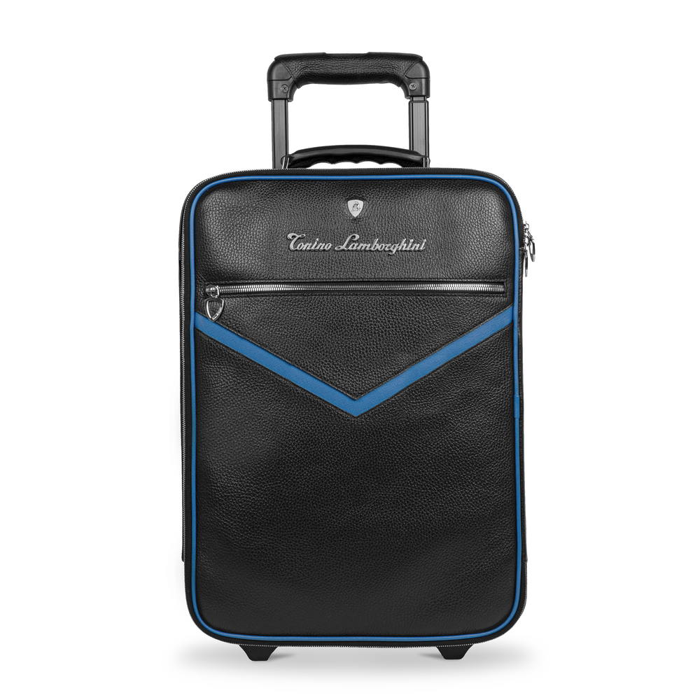 Tonino Lamborghini - Taglio  Saffiano Leather Trolley blue