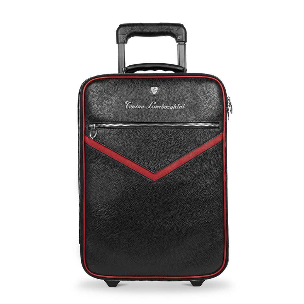 Tonino Lamborghini - Taglio  Saffiano Leather Trolley red
