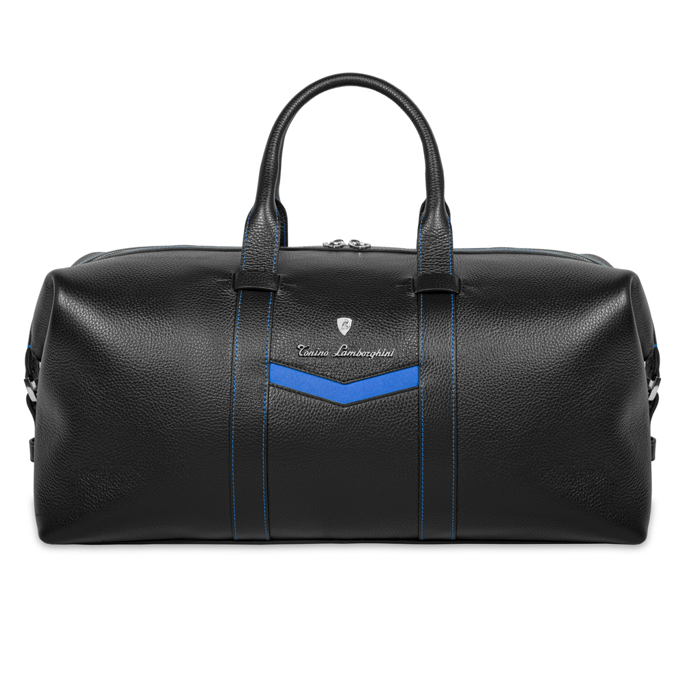 Tonino Lamborghini - Taglio  Saffiano Leather Duffle Bag blue