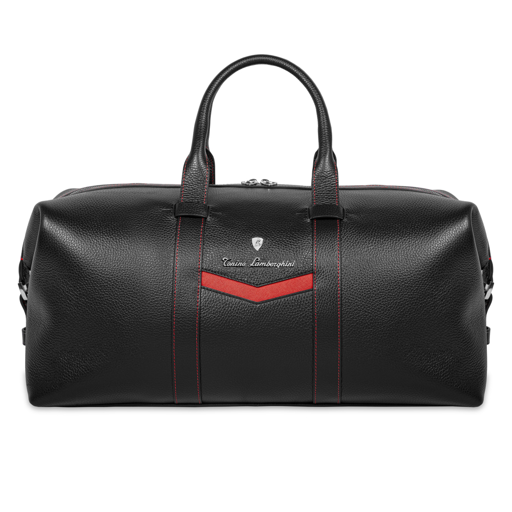 Tonino Lamborghini - Taglio  Saffiano Leather Duffle Bag red