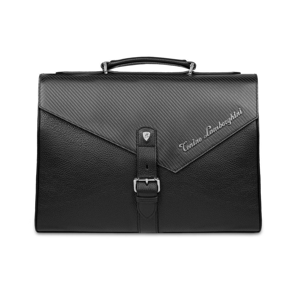 Tonino Lamborghini - Carbon PATL2902 Leather Briefcase carbon fibre