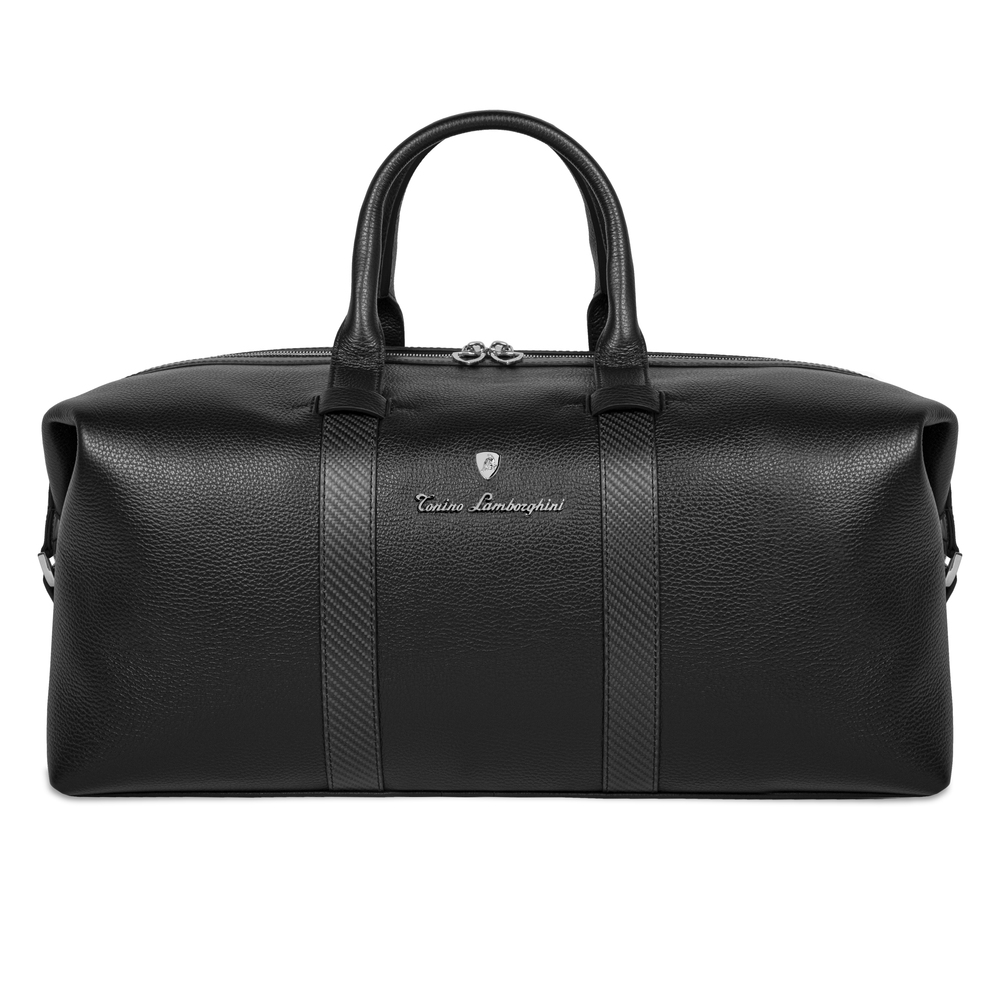 Tonino Lamborghini - Carbon  Leather Duffle Bag carbon fibre