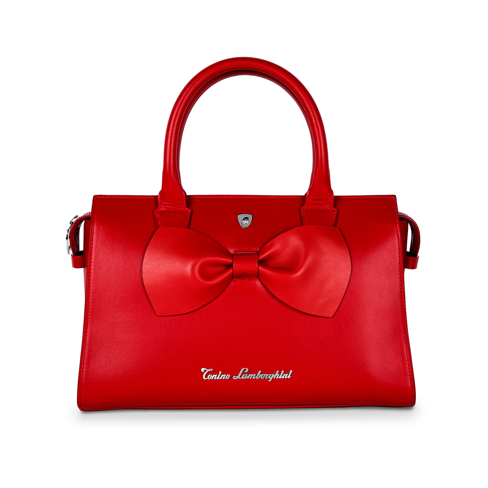 Tonino Lamborghini - Leather shoulder bag Fiocco red
