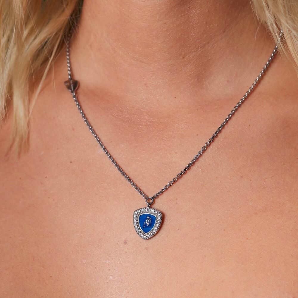 Tonino Lamborghini-Shield Lady silver necklace with pendant