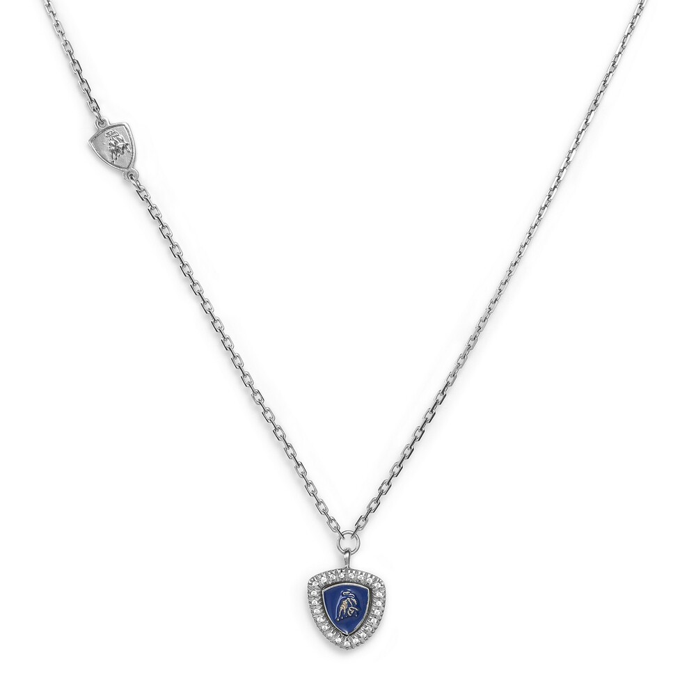 Shield Lady silver necklace with pendant