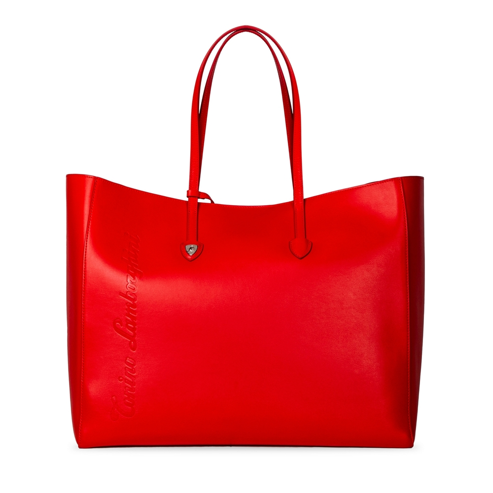 Tonino Lamborghini - Day by Day leather shopping bag red/bougainvillea