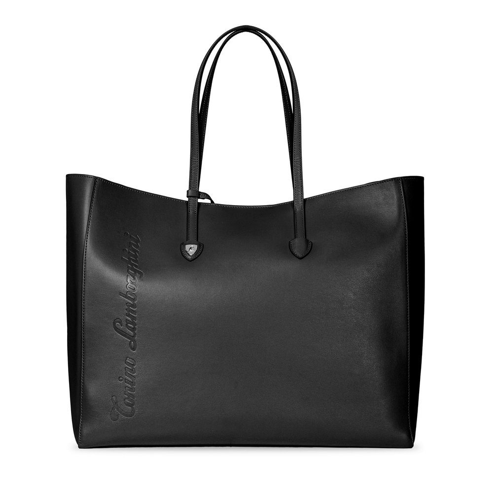 Tonino Lamborghini - Day by Day leather shopping bag black/red