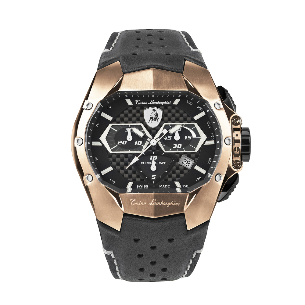 Tonino Lamborghini - GT1 SS Chrono Watch Rose Gold