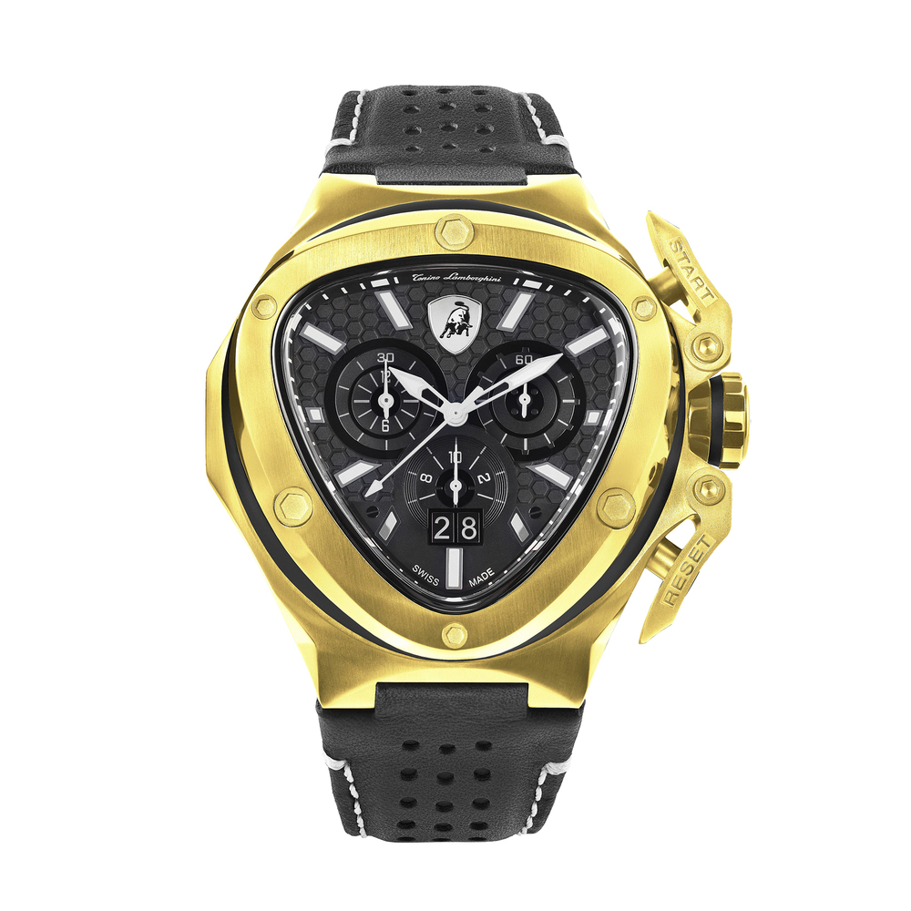 Tonino Lamborghini - Spyder X SS Chrono Watch Yellow Gold
